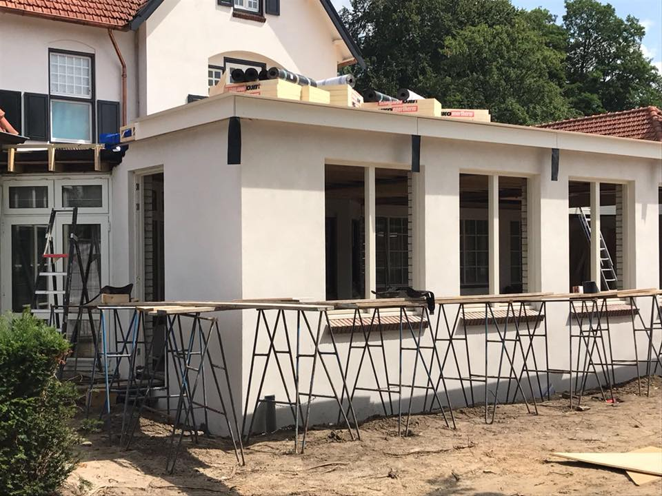 status aanbouw Chalet Couvert 15 juni 2018 © Dusol Vastgoedonderhoud