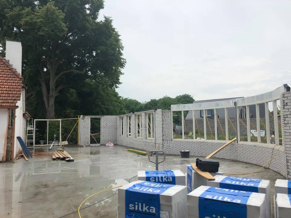 status aanbouw Chalet Couvert 23 mei 2018 © Dusol Vastgoedonderhoud