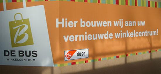 Verbouwen en schilderen van  Winkelcentrum de Bus in Helmond