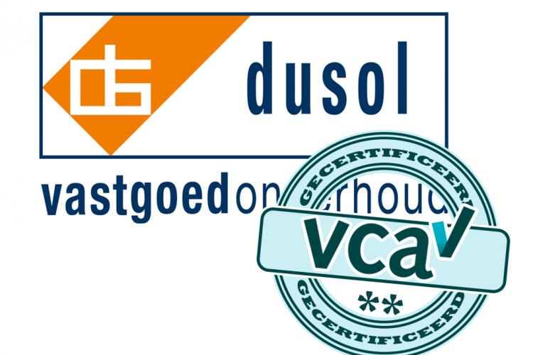 Dusol heeft VCA** Certificaat behaald